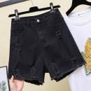 Jeans Summer 2021 black L (100-120 kg recommended), XL (120-140 kg recommended), 2XL (140-150 kg recommended), 3XL (150-160 kg recommended), 4XL (160-170 kg recommended), 5XL (170-200 kg recommended) shorts routine Dark color 5—19 Other / other