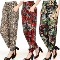 Casual pants XL xxl Summer of 2019 Ninth pants Knickerbockers High waist Other styles Thin money 96% and above Knickerbockers-05 Yudun (clothing) polyester fiber pocket polyester fiber Polyester 96% polyurethane elastic fiber (spandex) 4% Pure e-commerce (online only)