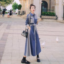 Dress Autumn 2020 Picture color XS S M L XL longuette singleton  Long sleeves commute Polo collar High waist Single breasted A-line skirt other Others 18-24 years old An imperial concubine Korean version Lace up button ANFEI236 - six thousand six hundred and seventy More than 95% other other