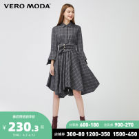 Dress Spring 2020 E90 granite grey with Decor 155/76A/XS 160/80A/S 165/84A/M 170/88A/L 175/92A/XL 180/96A/XXL Middle-skirt singleton  three quarter sleeve middle-waisted lattice Single breasted A-line skirt other 25-29 years old Vero Moda 3201SZ511-498524 71% (inclusive) - 80% (inclusive)