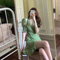 Polo shirt Summer 2021 Short sleeve Ji Ying other routine routine green Self cultivation S M L XL 96% and above Pure e-commerce (online only) Broken flowers