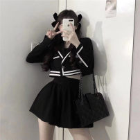 Dress Autumn 2020 Jacket + skirt S M L Short skirt Two piece set Long sleeves commute V-neck High waist Solid color Single row two buttons A-line skirt 18-24 years old Type A Holly Britain 8050# More than 95% other Other 100% Pure e-commerce (online only)