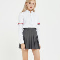 skirt Spring of 2019 XS S M L XL Short skirt Versatile High waist Pleated skirt Solid color Type A 18-24 years old 71% (inclusive) - 80% (inclusive) polyester fiber Polyester 79% viscose 21% Pure e-commerce (online only)