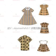 suit Other / other Baby collar dress, belt dress, A-shape dress, color woven dress, stitched shirt in stock, baby collar dress in stock 90cm, 100cm, 110cm, 120cm, 130cm, 140cm, 150cm, adult s, adult m, adult L