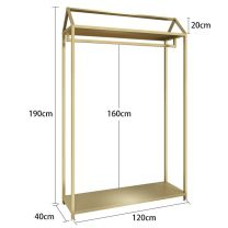 Clothing display rack Metal clothing Chinese Mainland Official standard, package 1, package 2