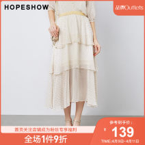skirt Summer 2020 XS S M L XL XXL Midea black spot 123 longuette grace Natural waist A-line skirt Broken flowers Type A 25-29 years old More than 95% Hopeshow  polyester fiber printing Polyester 100% Same model in shopping mall (sold online and offline)