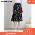 skirt Summer 2020 S M L XL Mid length dress grace High waist other Type A 25-29 years old More than 95% Hopeshow  polyester fiber printing Polyester 100% Same model in shopping mall (sold online and offline)