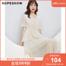 Dress Summer 2020 XS S M L XL XXL Middle-skirt singleton  Short sleeve commute other other Single breasted Princess Dress routine Others 25-29 years old Type X Hopeshow  lady Lace More than 95% other polyester fiber Polyester 100% Same model in shopping mall (sold online and offline)