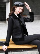 leather clothing Other / other Winter 2020 M,L,XL,XXL Black, brown have cash less than that is registered in the accounts Self cultivation square neck zipper routine JFY20DYYG82605 PU 25-29 years old