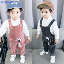 trousers Simba monkey neutral 80cm 90cm 100cm 110cm spring and autumn trousers Korean version There are models in the real shooting rompers Button High waist corduroy Open crotch Cotton 85% others 15% b99313af-e Class B 12 months 18 months 2 years 3 years 4 years