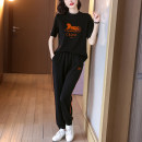 Fashion suit Summer 2021 S M L XL Black apricot Over 35 years old Ge yanxuan 212T1554 nylon Polyamide fiber (nylon) 43% cotton 36% polyurethane fiber (polyurethane) 21% Pure e-commerce (online only)