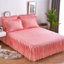 Bed skirt polyester fiber Other / other Solid color Qualified products