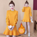 Dress Autumn 2020 yellow S M L XL 2XL Mid length dress singleton  Long sleeves 18-24 years old Eloni w9WKd More than 95% other Other 100% Exclusive payment of tmall