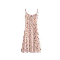 Dress Summer 2021 Off white S,M,L Mid length dress singleton  Sleeveless camisole 51% (inclusive) - 70% (inclusive)