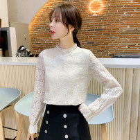 Lace / Chiffon Autumn 2020 S M L XL 2XL three quarter sleeve commute Super short Cherry and lemon Korean version Other 100%