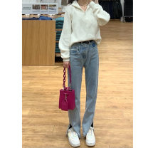 Jeans Spring 2021 Jeans S M L XL trousers High waist Straight pants Wash zipper button multiple pockets Q8222hQ0Y Jade Princess Other 100% Pure e-commerce (online only)
