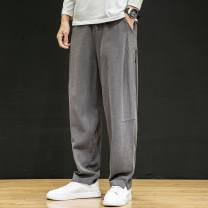 Casual pants Others Youth fashion Gray, black, Navy, khaki M [reference weight 100-125 kg], l [reference weight 130-140 kg], XL [reference weight 140-150 kg], 2XL [reference weight 155-165 kg], 3XL [reference weight 170-180 kg], 4XL [reference weight 185-195 kg], 5XL [reference weight 200-220 kg]