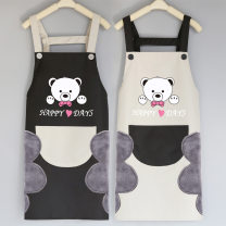 apron Hand erasable Grey Black Pocket Hand erasable black grey pocket hand erasable black red pocket hand erasable Red Black Pocket Hand erasable yellow coffee pocket hand erasable yellow mouth bag Sleeveless apron waterproof Korean version other Personal washing / cleaning / care Average size DT189