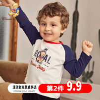 T-shirt CLASSIC TEDDY MINI 80cm 90cm 100cm 110cm 120cm 130cm neutral spring and autumn Long sleeves Crew neck leisure time There are models in the real shooting nothing cotton Cartoon animation Cotton 100% T029M10033144-1 Class A other Winter of 2019 Chinese Mainland