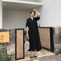 Women's large Summer 2020 Black long black short L XL 2XL 3XL 4XL singleton  commute Short sleeve Solid color Korean version Polo collar other other Hinaya 18-24 years old 96% and above Other 100% Pure e-commerce (online only)