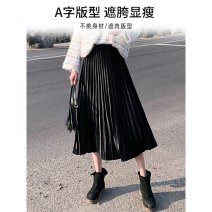 skirt Autumn 2020 S,M,L,XL longuette commute High waist A-line skirt Type A 18-24 years old NGGGN Korean version