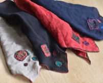 Scarf / silk scarf / Shawl other Hemp gray, natural black, bright red, navy blue Summer, winter female decorate other other other Embroidery 102cm