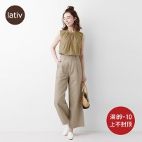 Casual pants S M L XL Spring 2020 trousers Wide leg pants High waist Lativ Pure e-commerce (online only)