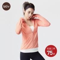 short coat Spring 2020 S M L XL Lativ 81% (inclusive) - 90% (inclusive) polyester fiber Polyester 86% polyurethane elastic fiber (spandex) 14% Pure e-commerce (online only)