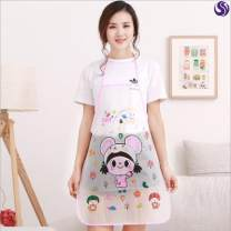 apron Six are pink bear, six are mixed, six are random, six are balloon bear, six are big eye girl, six are glasses dog, six are smiling face, six are yellow duck Sleeveless apron waterproof Cartoon PVC Household cleaning Average size Other / other the post-90s generation no Cartoon