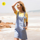 skirt Summer of 2018 160/64A/S 165/68A/M 170/72A/L 175/76A/XL Allure blue Mid length dress Natural waist More than 95% Cache Cache cotton Cotton 100% Same model in shopping mall (sold online and offline)