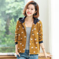 Middle aged and old women's wear Autumn of 2019 Orange, purple XL,L,M,XXL,XXXL,XXXXL commute Jacket / jacket Big flower Yupai Polyester, others