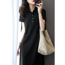 Dress Summer 2021 black S M L XL Mid length dress singleton  Short sleeve middle-waisted 18-24 years old Yan Xiangfei More than 95% other Other 100% Pure e-commerce (online only)