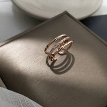 Ring / ring other RMB 1.00-9.99 Other / other Three layer Diamond Rose gold ring, three layer diamond silver ring, double layer gold diamond ring, double layer silver diamond ring, little butterfly gold ring, little butterfly silver ring female Love / water drop / bell