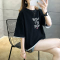 T-shirt Black blue yellow M L XL 2XL Summer 2021 Short sleeve Crew neck easy Regular routine commute cotton 51% (inclusive) - 70% (inclusive) 18-24 years old Korean version originality letter Beautiful scenery printing Pure e-commerce (online only)