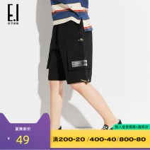 trousers E. I (clothing) male 110cm 120cm 130cm 140cm 150cm 160cm Dark grey black summer shorts leisure time There are models in the real shooting Casual pants Leather belt low-waisted cotton Don't open the crotch Cotton 94% polyurethane elastic fiber (spandex) 6% E19226-61335 Class B Summer of 2019