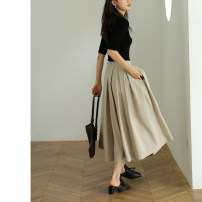 Casual pants XS S M L Autumn 2020 Ninth pants Wide leg pants Natural waist commute routine 25-29 years old 96% and above Epoque de rueen / Ruishi polyester fiber Simplicity polyester fiber Polyester 100%