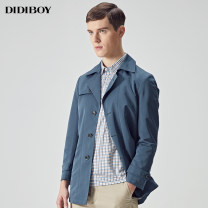 Windbreaker Dark green Didiboy / didiboy Business gentleman 46 48 50 52 54 56 58 double-breasted Medium length standard go to work spring middle age Lapel Business Casual Polyester 100% No iron treatment Spring of 2018 Same model in shopping mall (sold online and offline)