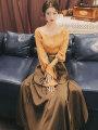 Fashion suit Spring 2021 S,M,L Top, skirt, top + skirt [suit]