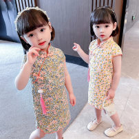 Tang costume Green, orange 110,100,90,80,130,120 Other 100% female summer There are models in the real shooting Thin money Other / other other other 18 months, 2 years old, 3 years old, 4 years old, 5 years old, 6 years old
