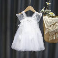 Dress Pink, white female Other / other 120cm,100cm,130cm,110cm,90cm,140cm Other 100% summer princess Skirt / vest Solid color other Cake skirt 18 months, 2 years old, 3 years old, 4 years old, 5 years old, 6 years old, 7 years old, 8 years old