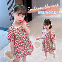 Dress Picture color female Other / other 120cm,100cm,130cm,110cm,90cm Other 100% summer princess Short sleeve Broken flowers Cotton blended fabric Splicing style 2 years old, 3 years old, 4 years old, 5 years old, 6 years old