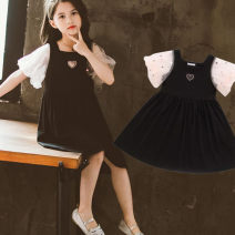Dress Black 2028 bubble sleeve dress female Other / other 120cm,130cm,110cm,140cm,150cm,160cm Other 100% summer other Short sleeve other other other other Three, four, five, six, seven, eight, nine, ten, eleven, twelve Chinese Mainland Zhejiang Province Huzhou City