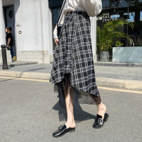 skirt Spring 2021 S M L XL Check black Mid length dress Versatile Natural waist Irregular lattice 18-24 years old F21020105 More than 95% other Taikou other Other 100% Exclusive payment of tmall 401g / m ^ 2 (inclusive) - 500g / m ^ 2 (inclusive)