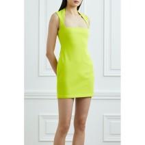 Dress Spring 2021 Yellow black 4 6 8 10 12 14 Short skirt 25-29 years old Solace London JVM1605183511745 More than 95% polyester fiber Polyester 95% polyurethane elastic fiber (spandex) 5%