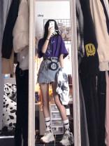 Women's large Summer 2020 T-shirt + skirt S M L XL Dress Two piece set commute Short sleeve Korean version routine Gu Jiafu 31% (inclusive) - 50% (inclusive) Short skirt Modified polyacrylonitrile fiber (modified acrylic fiber) 100% Pure e-commerce (online only)