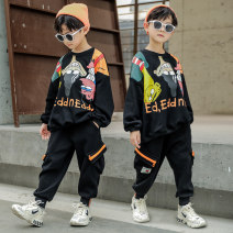 suit Dobdy White black 110cm 120cm 130cm 140cm 150cm 160cm male spring and autumn leisure time Long sleeve + pants 2 pieces routine There are models in the real shooting Socket nothing Cartoon animation DBD-2685 Class B Other 100% Chinese Mainland