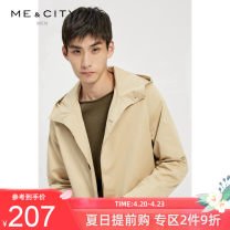 Windbreaker Me&City Youth fashion Single breasted Medium length easy go to work Four seasons youth Hood (not detachable) Cotton 100% Autumn of 2018 Same model in shopping mall (sold online and offline)
