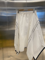 Casual pants white S, M Summer 2020 High waist commute Bandage polyester fiber Asymmetry