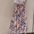 skirt Summer 2021 XS/1 S/2 M/3 L/4 XL/5 Decor longuette Versatile High waist A-line skirt Broken flowers Type A More than 95% brocade Manetti cotton Cotton 96.9% polyurethane elastic fiber (spandex) 3.1% Pure e-commerce (online only)