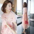 Dress Summer 2020 Decor S M L longuette singleton  Short sleeve commute Crew neck Loose waist Solid color Socket other Others 30-34 years old Type A Concubine Korean version More than 95% polyester fiber Polyester 100% Pure e-commerce (online only)